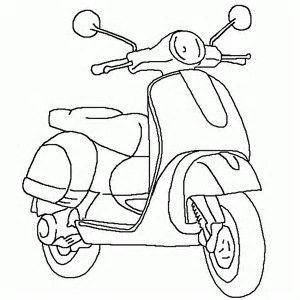 Image Result For Vespa Com Imagens Carros Para Colorir Desenhos Para Pintar Desenhos