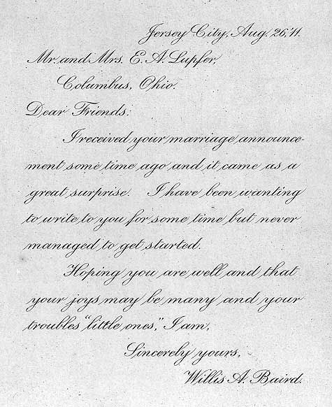 Copperplate - Victorian Handwriting