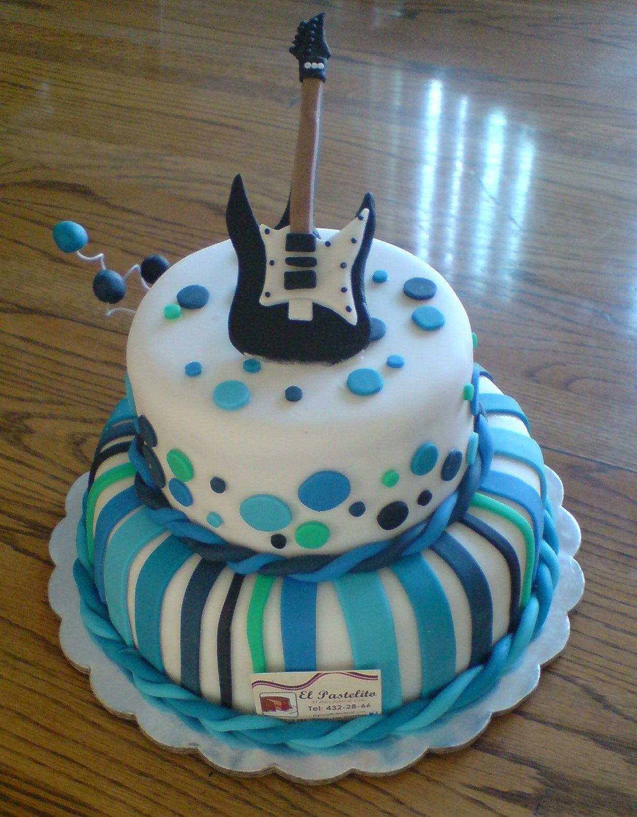 guitar pastel tematico de cumpleaosla cliente nos pido este pastel ya