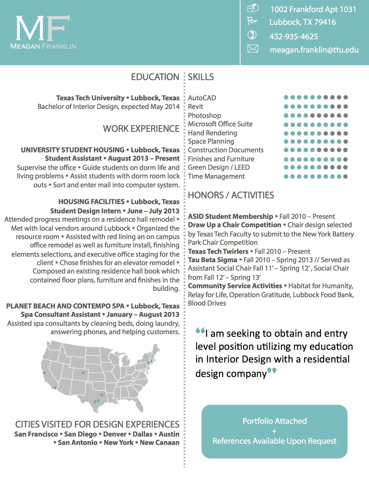 Resume For A Job My Version Of A Creative Resume  Interior Design  Pinterest
