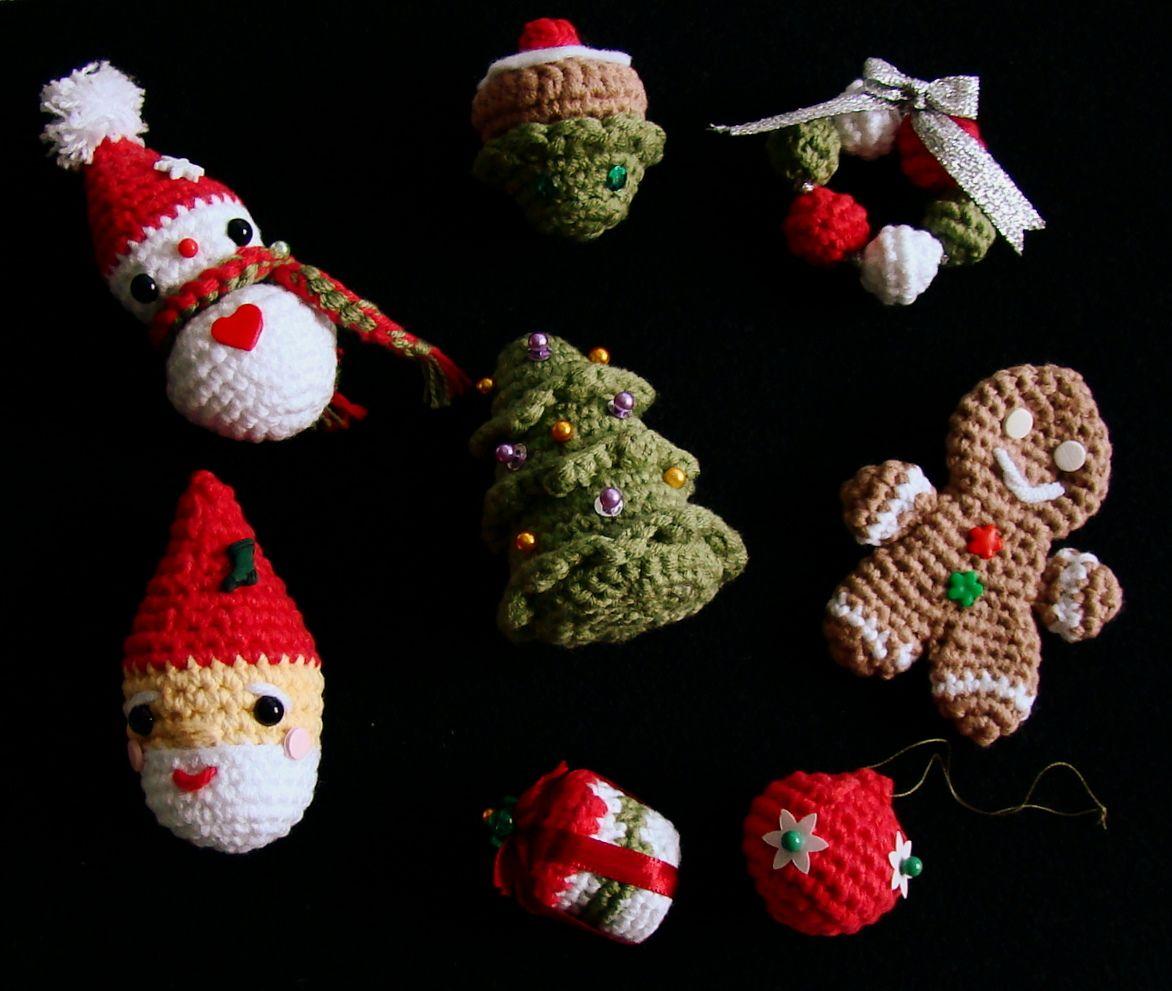 Amigurumi Christmas Decorations : 8 Amigurumi Christmas Ornaments pattern by Amiguria ...