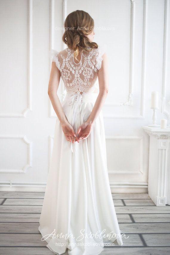 Two piece wedding dress, Wedding skirt, Boho wedding dress, Crop top wedding dress, Two piece bridesmaid dress, Chiffon, 0032