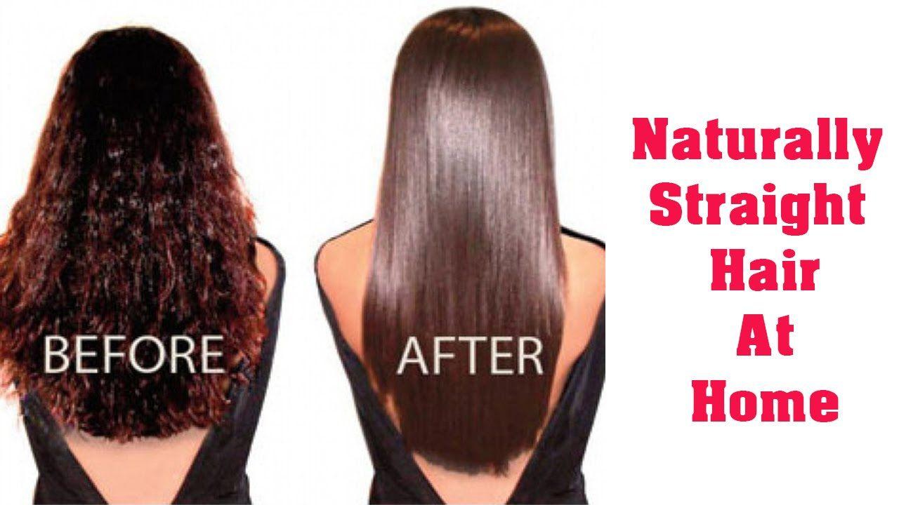 Home Solutions For Get Straight Hair Permanent Hair Straightening At Home With All Natural Ing Straight Hairstyles Smooth Curly Hair Straightening Curly Hair