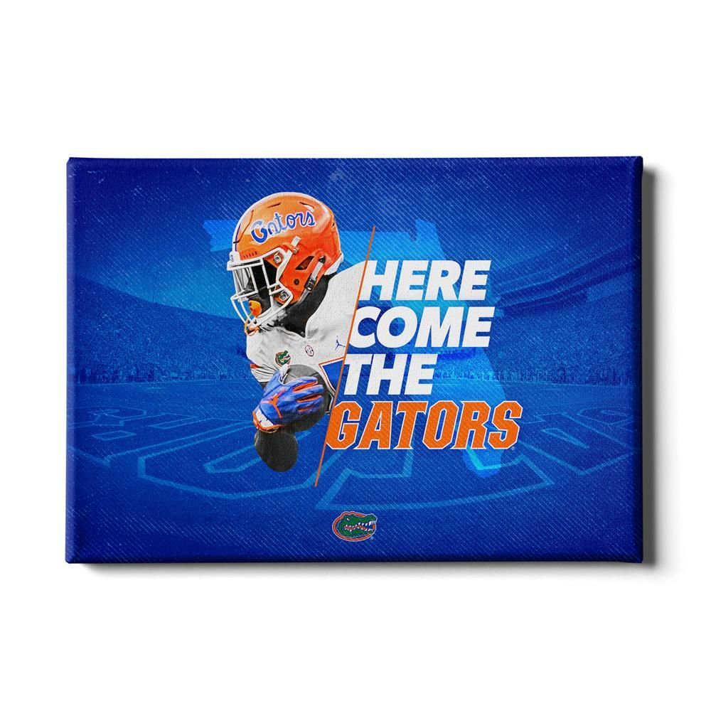 Florida Gators Here Come The Gators Football Wall Art Eagle Wall Art College Wall Art