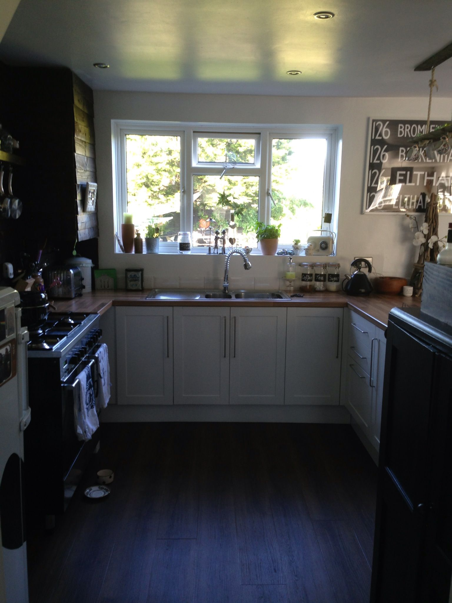 Kitchen Feature Wall Paint Painted Kitchen Doors Laminate Oak To White Painted With Ronseal