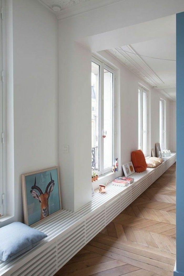 Habillage radiateur fonte excellent je tenais absolument - Mettre un meuble devant un radiateur ...