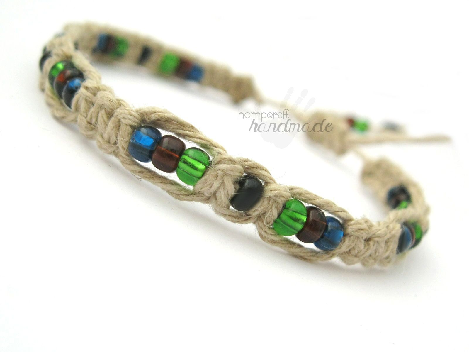 Earth Colors Macrame Hemp Bracelet Patterns