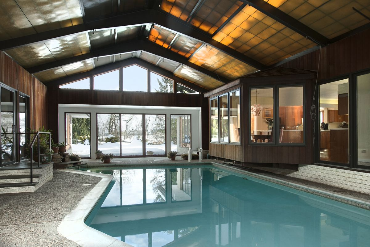 Great Indoor Pool With A Retractable Roof