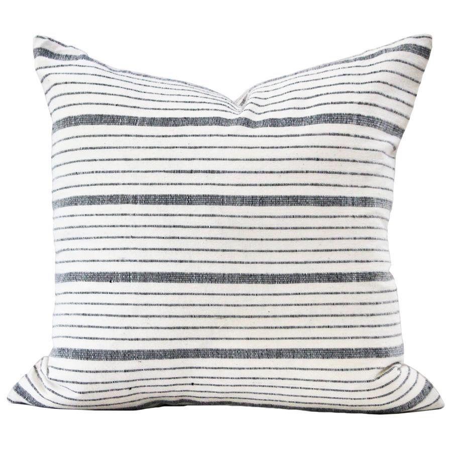 Kufri Cusco Stripe Pillow Cover In Natural Black White Gray Etsy Stripe Pillow White Accent Pillow Farmhouse Pillows