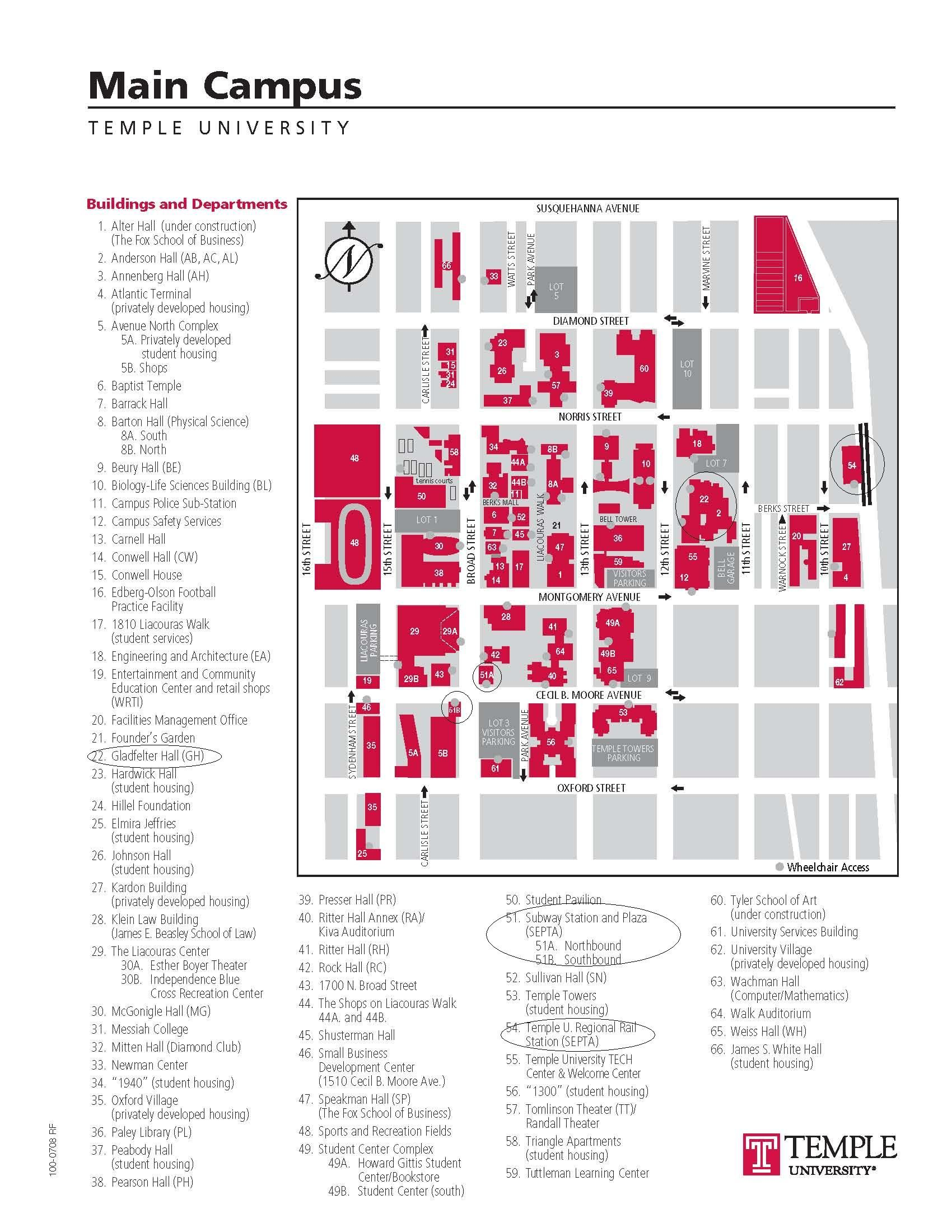 Temple Campus Map Philadelphia Pinterest Campus Map Delaware