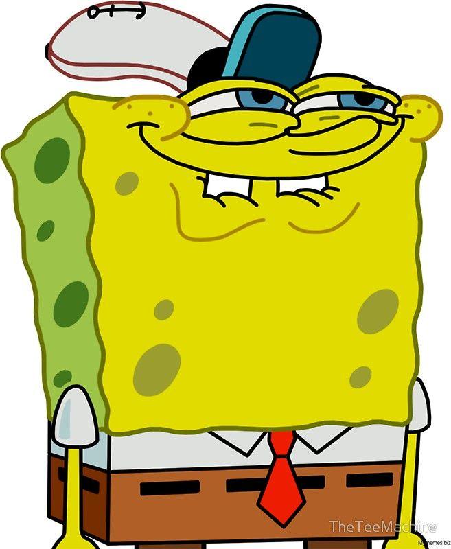Grinning Spongebob Funny Spongebob Meme Shirt Spongebob Funny Spongebob Drawings Spongebob Painting