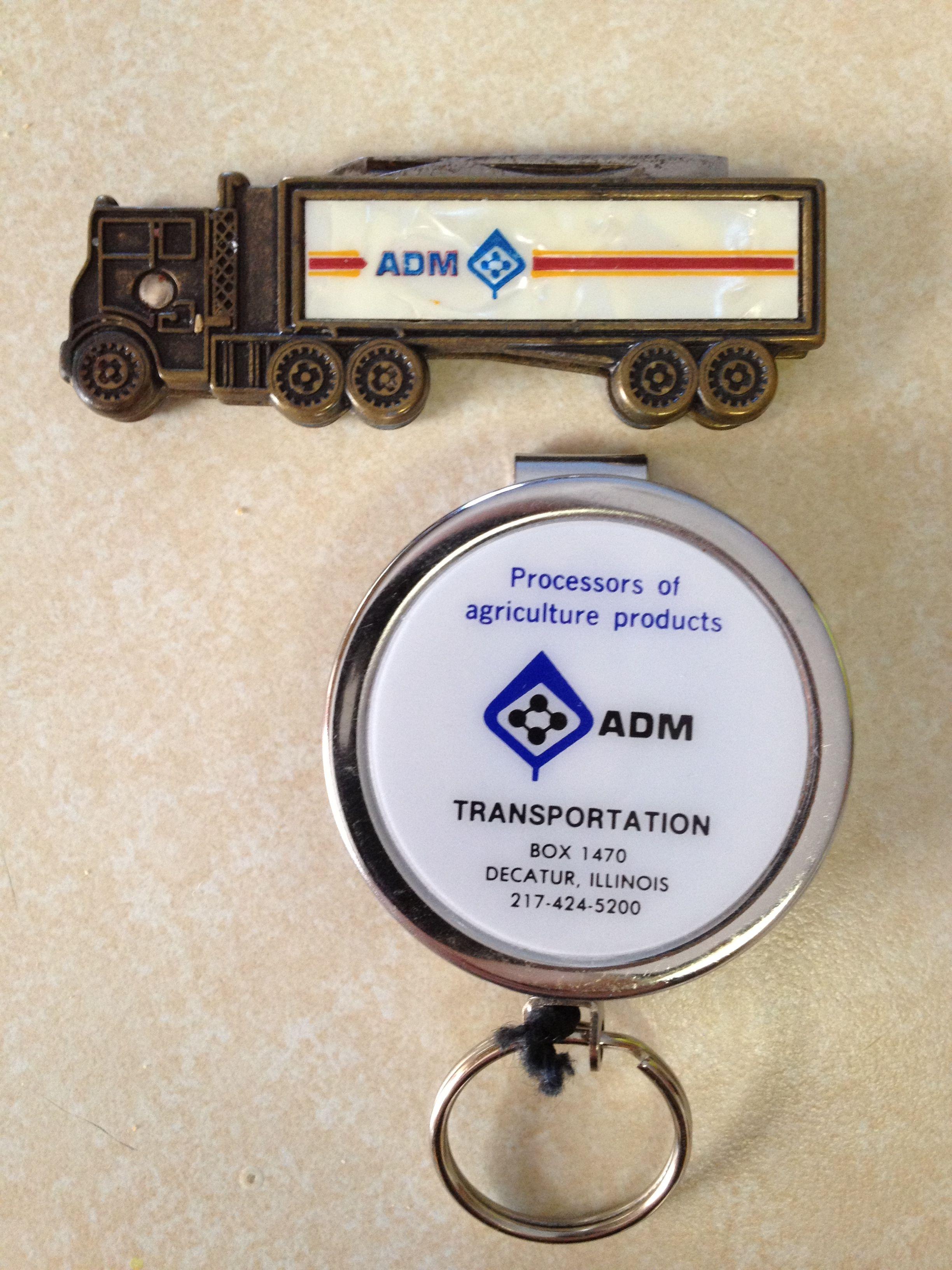 pocket knife and key holder; ADM Transportation; ADM ...