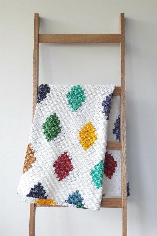 C2C crochet harlequin blanket, crochet blanket by Happy in Red ...