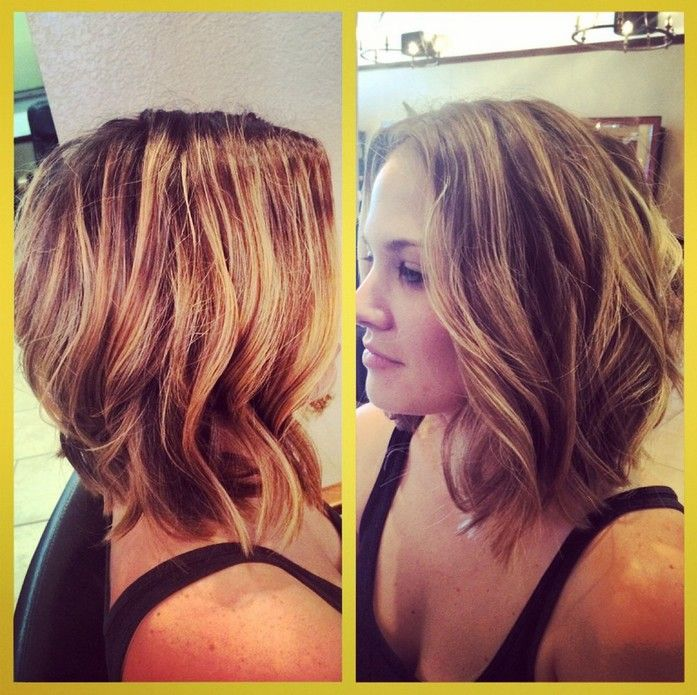 Long A-line Bob Haircut with Waves