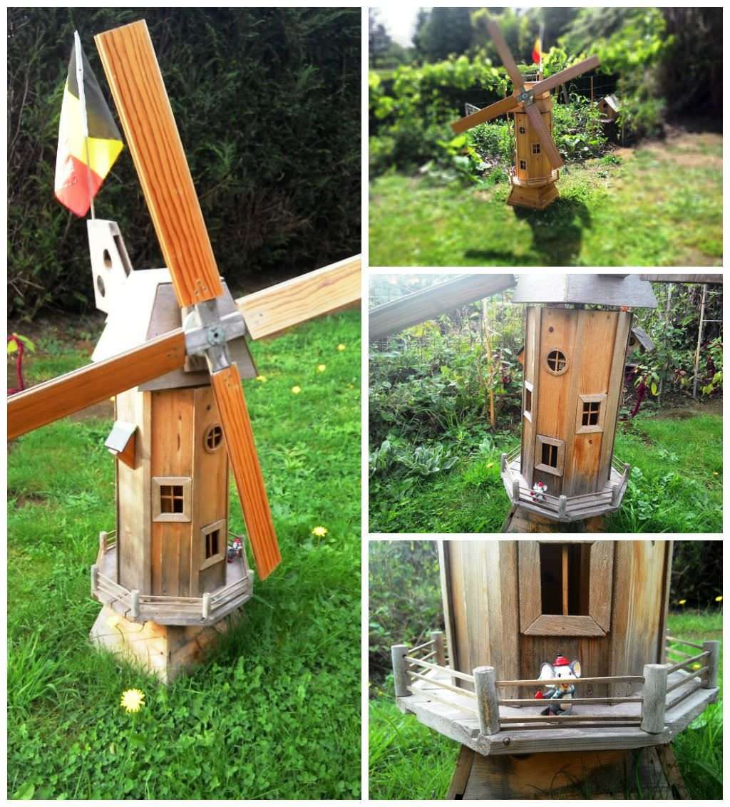 Homemade Garden Windmill From Wooden Pallets | Lawn, Creative and Woods