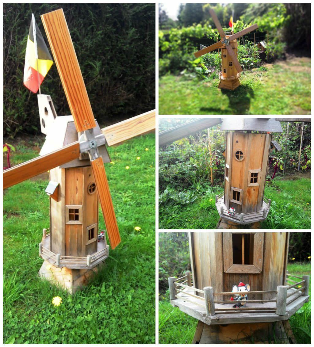 homemade garden windmill from wooden pallets windmill outdoor