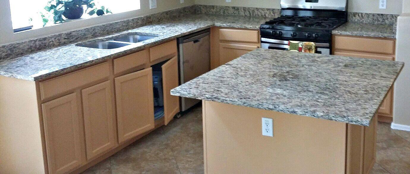 Countertop remodel with St Cecelia granite, 60/40 under mount ...