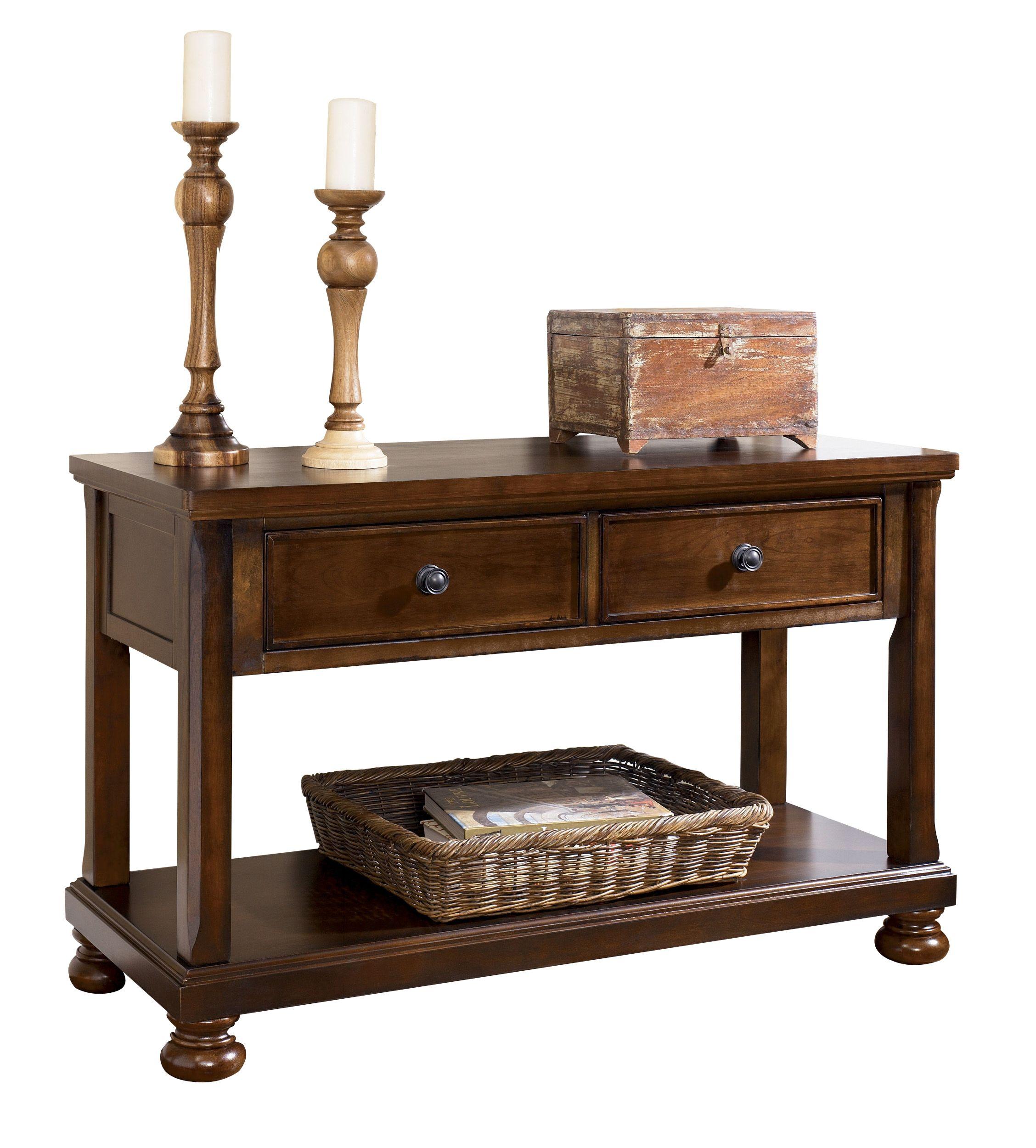 Ashley Furniture Porter Brown Sofa Console Table