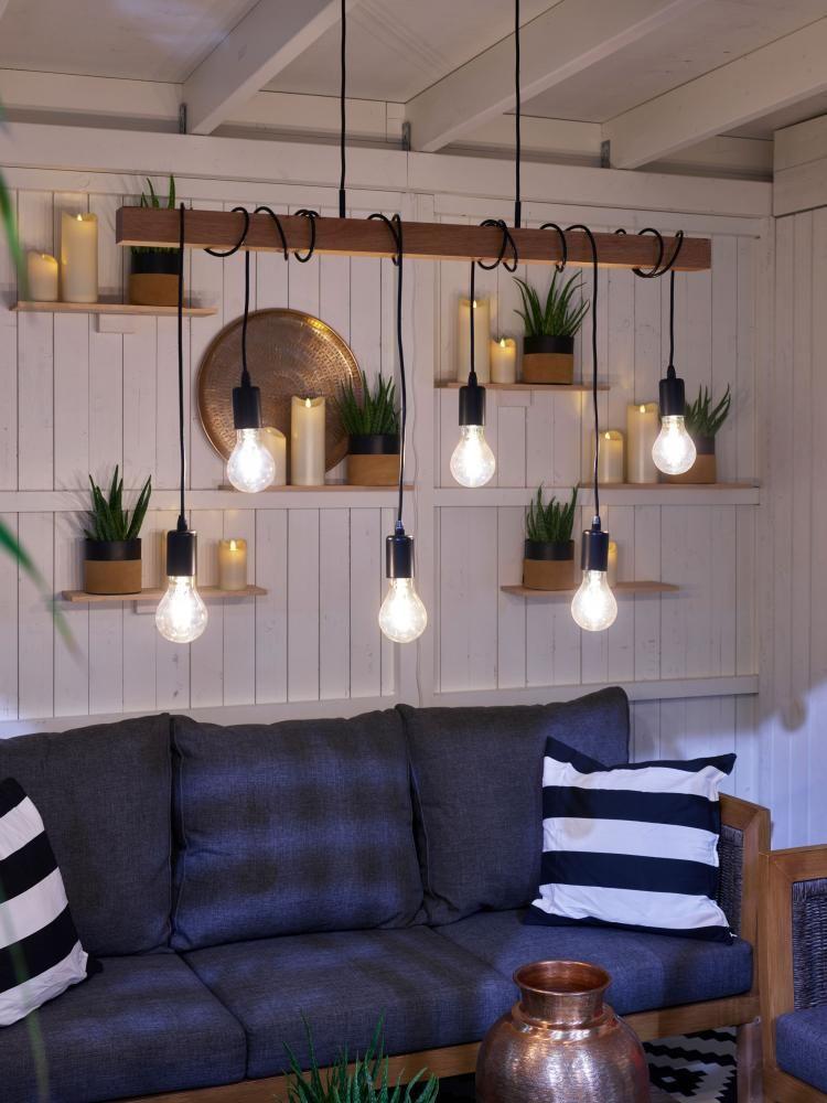 Oppdatert Townshend taklampe Sort/eik 100cm | Hus | Ceiling Lights, Home FI-16