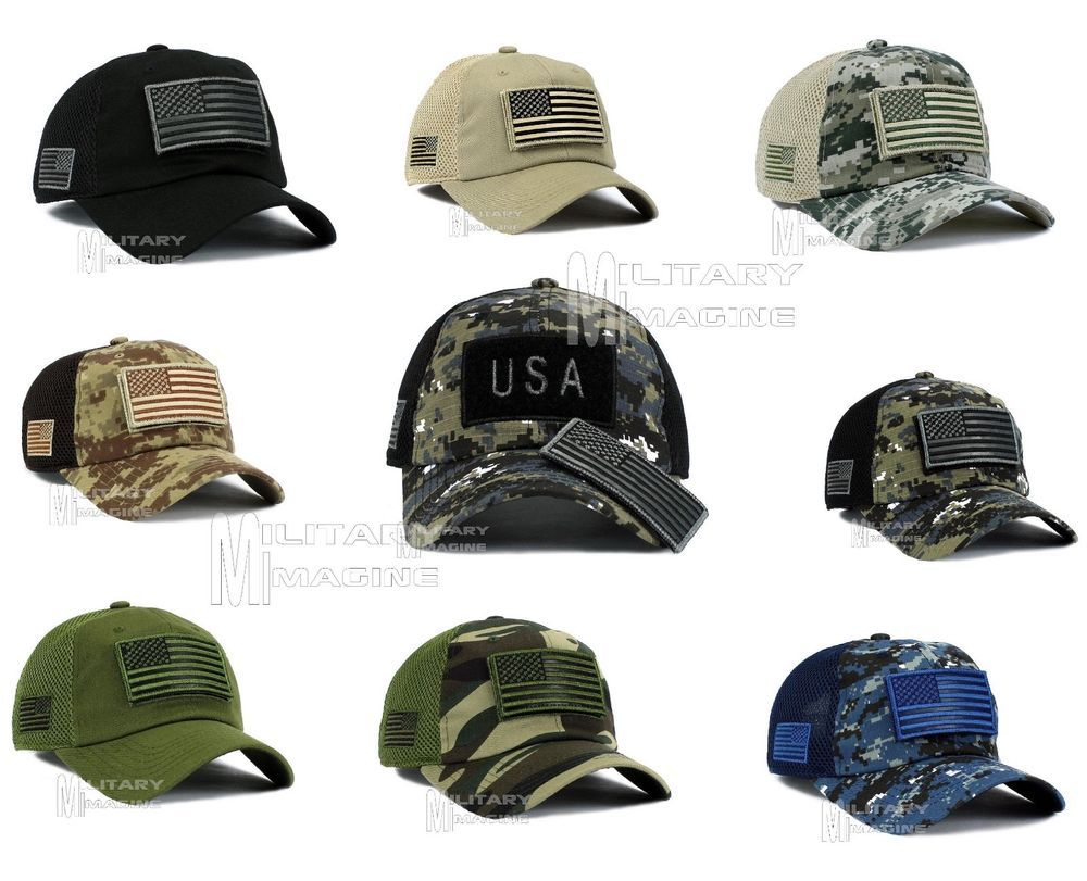 8e4df1b6f74 Tactical Operator USA Flag Hat w  Removable Patch. Black   Black Digital    Khaki Beige   Desert Digital Camo. Army Camo   Navy Digital Camo  . Small  flag on ...