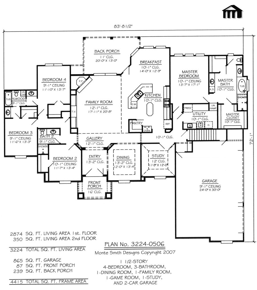 Plan No 3224 0506 House Plans Story House Metal Building House Plans