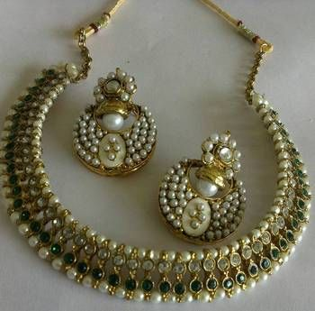 Reeti Fashions Designer Earings With Traditional Necklace Indian Wedding Jewelry Bridal Jewellery Online Wedding Jewelry Sets