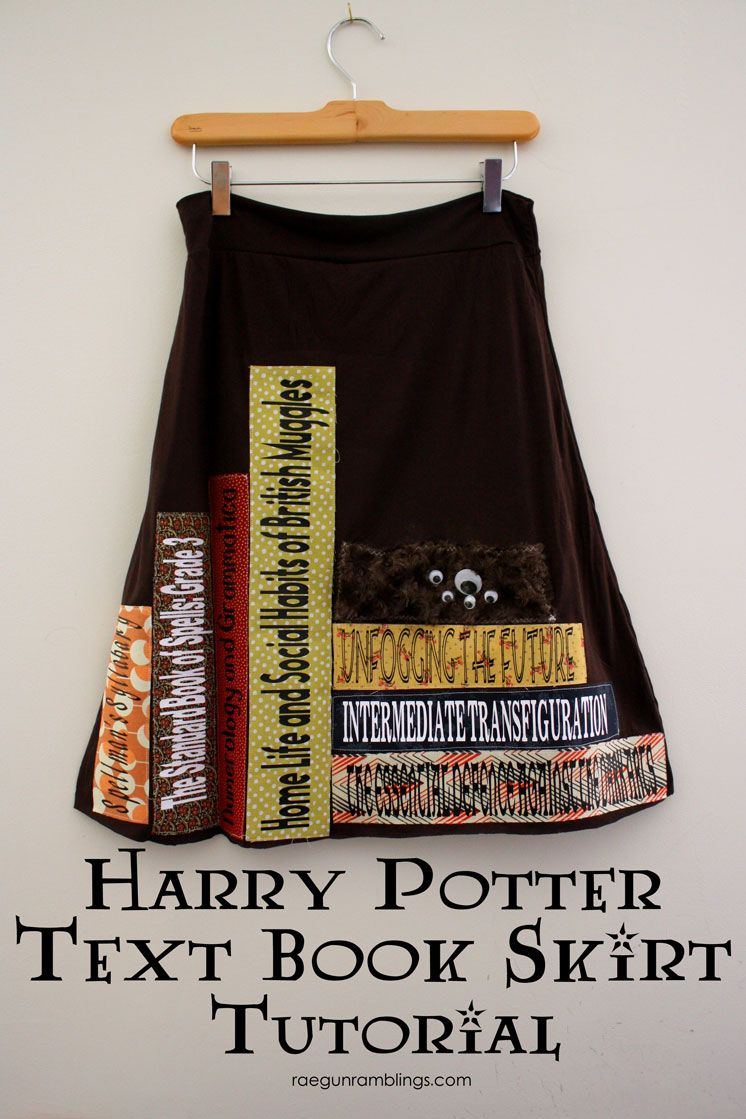 39147c1f0d Must make Harry Potter inspired Text book skirt. Step by step tutorial  instructions