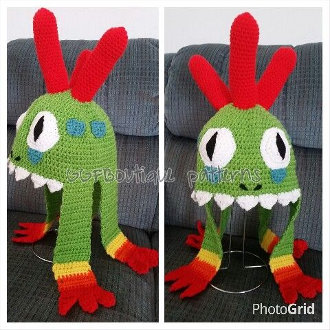 Murloc world of warcraft crochet hat | crochet | Pinterest | Hüte ...