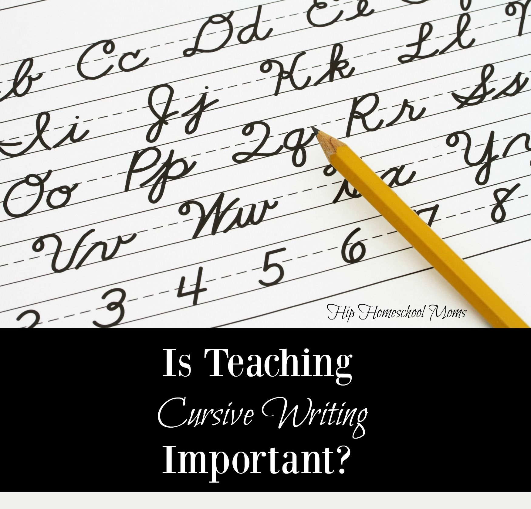 Is Teaching Cursive Writing Important