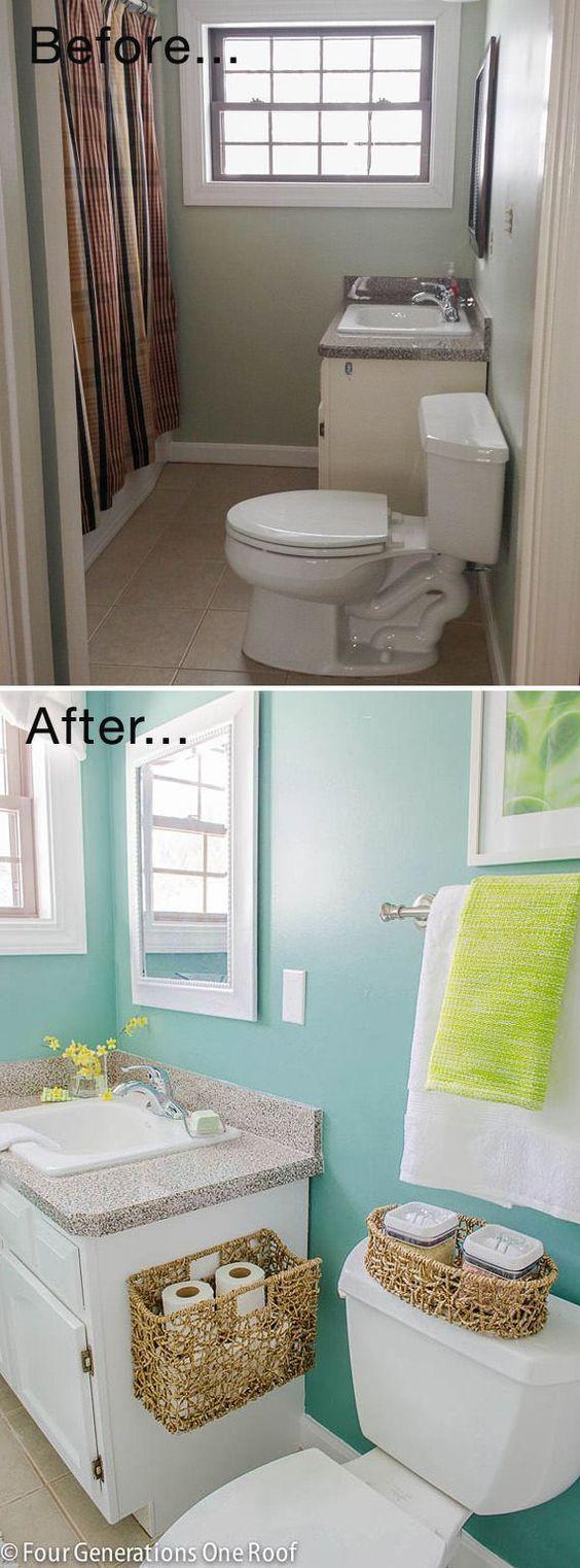 25 idee per arredare sfruttando ogni minimo spazio i piccoli bagni idee per la casa ba os - Spazio minimo per un bagno ...