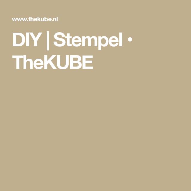DIY | Stempel • TheKUBE