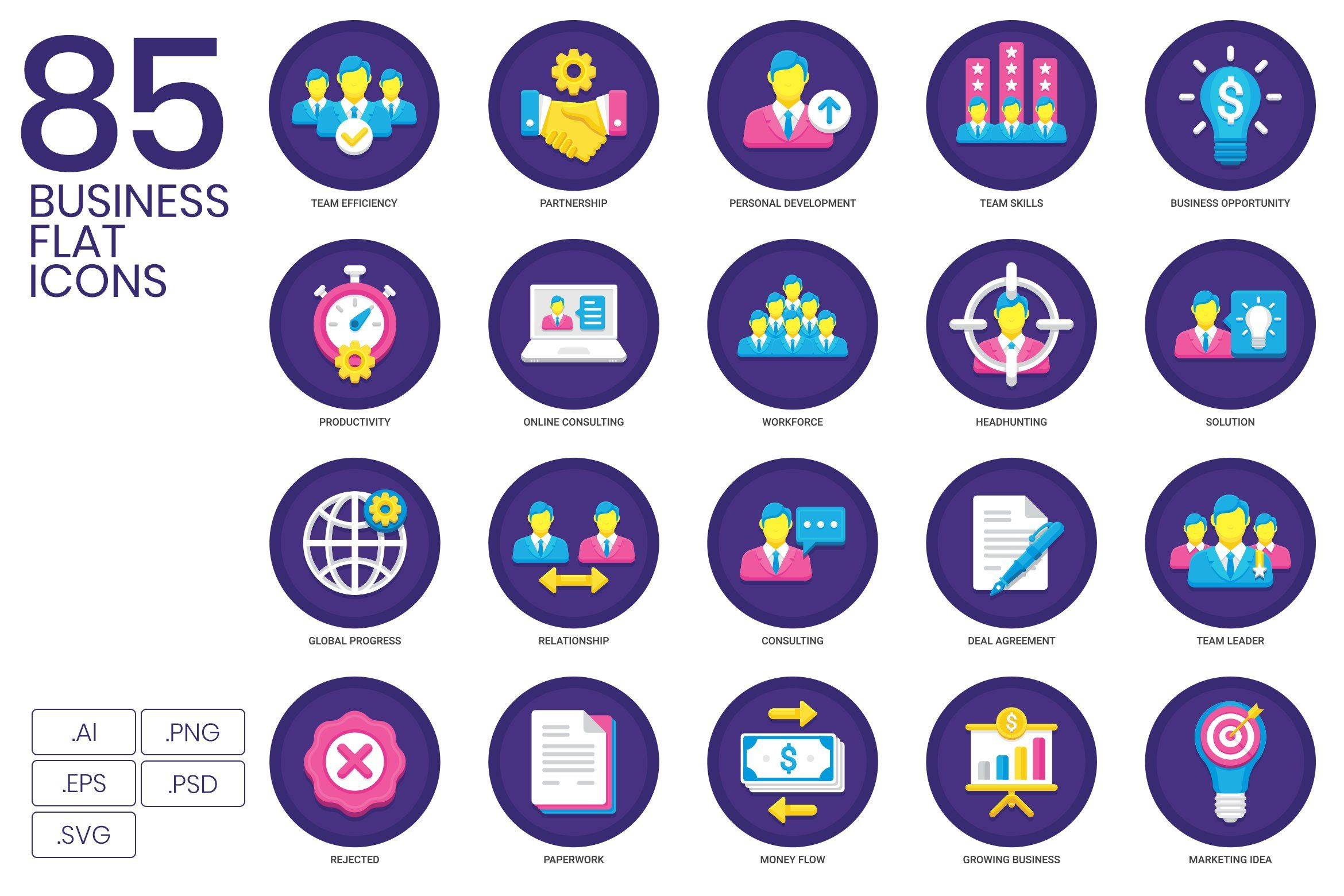 85 Business Icons Orchid Series Resources Icon Marketing Icon Business Icon
