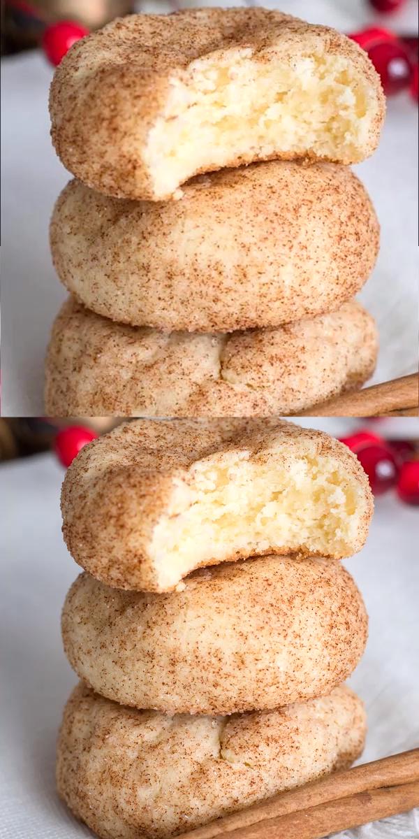 Cinnamon Cream Cheese Cookies #creamcheeserecipes Cinnamon Cream Cheese Cookies, an easy, tender cookie bursting with cinnamon sugar. #christmasbakingideas