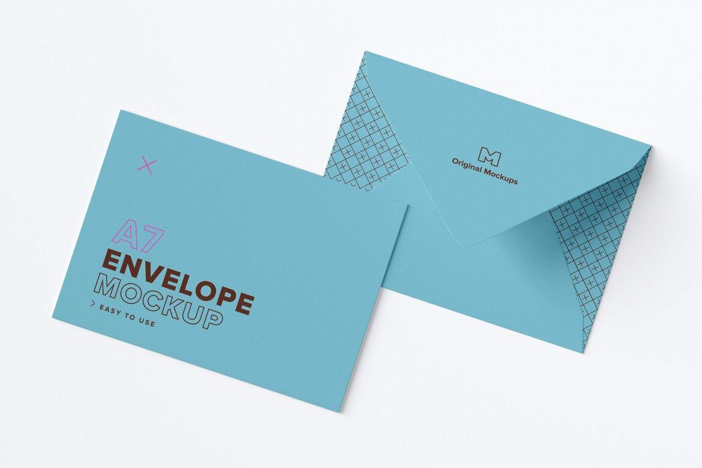 A7 Envelope Exterior Layout Mockup Original Mockups Mockup Envelope Psd Mockup Template Mockup Free Psd