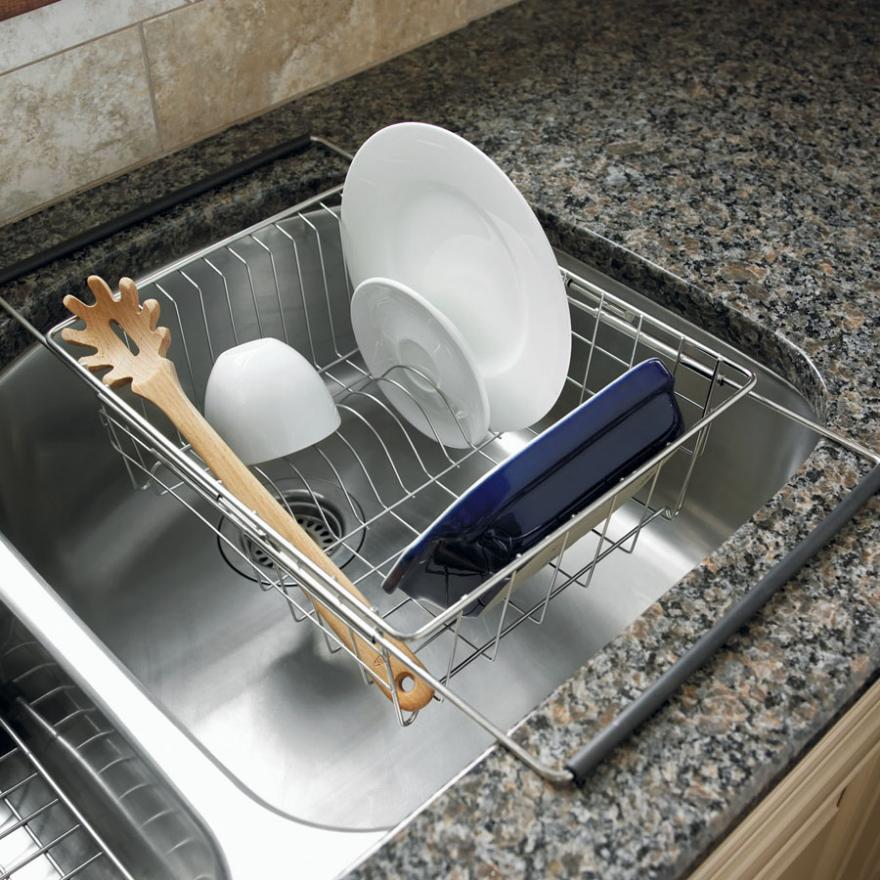 Small Kitchen Sink Dish Rack Kleine Kuchenspule Kuchen