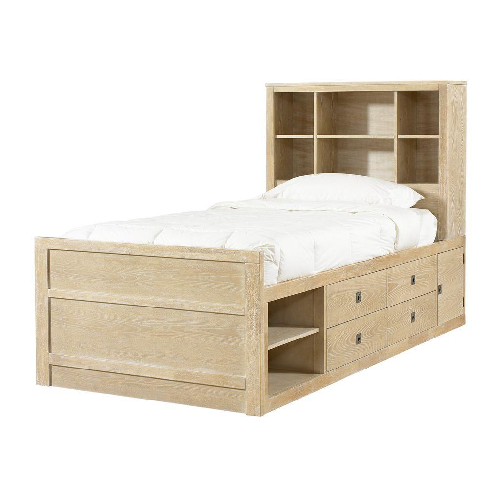 Cassidy uwashed teaku twinsize storage bed overstock shopping