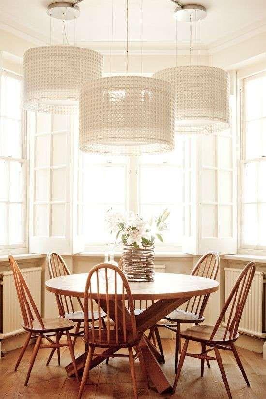 Illuminare una sala da pranzo - Grandi lampadari per la sala da ...