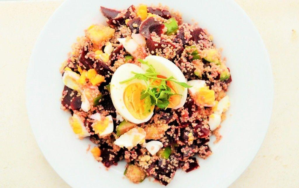 ♥ RECIPE: Quinoa bietensalade