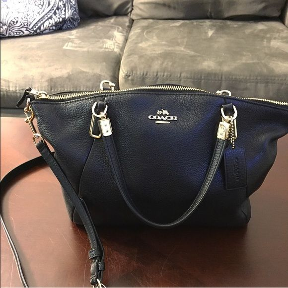 da6c05b30029c Coach Small Kelsey Coach small Kelsey in Black. There is nothing more  classic than a black leather handbag! This bag in is like new condition and  will be ...