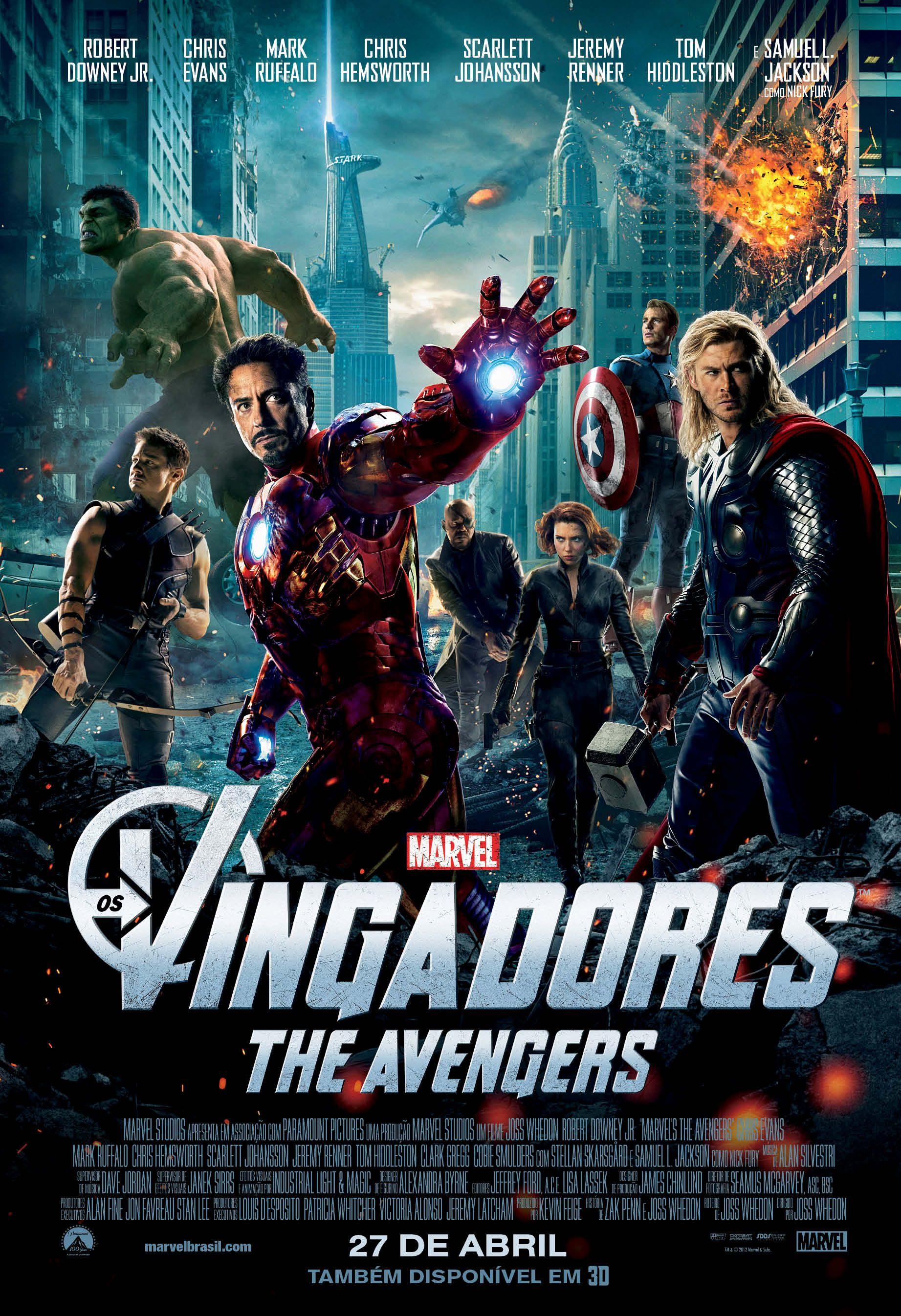 Os Vingadores | País: EUA | Gênero: Aventura | Lançamento Nacional: 27/04/2012 | Distribuidor: Walt Disney Studios
