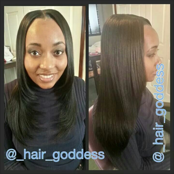 14 Inch Silky Straight Partial Sew In Goddess Hairstyles Hair Styles Hair