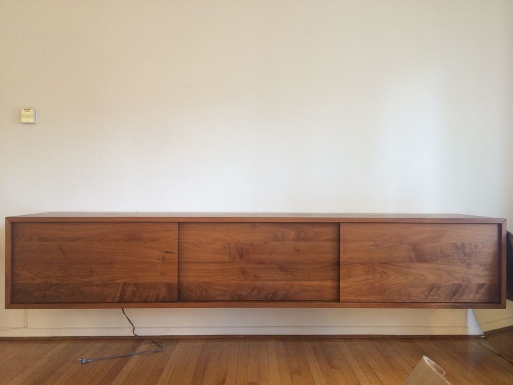 Danish Floating Credenza : Details about floating credenza mid century danish modern style