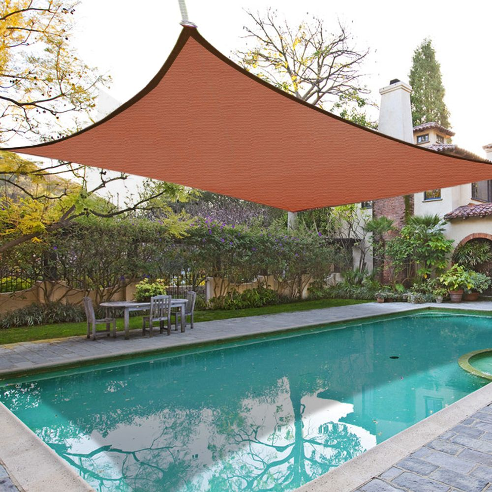 how to install a shade sail over a pool