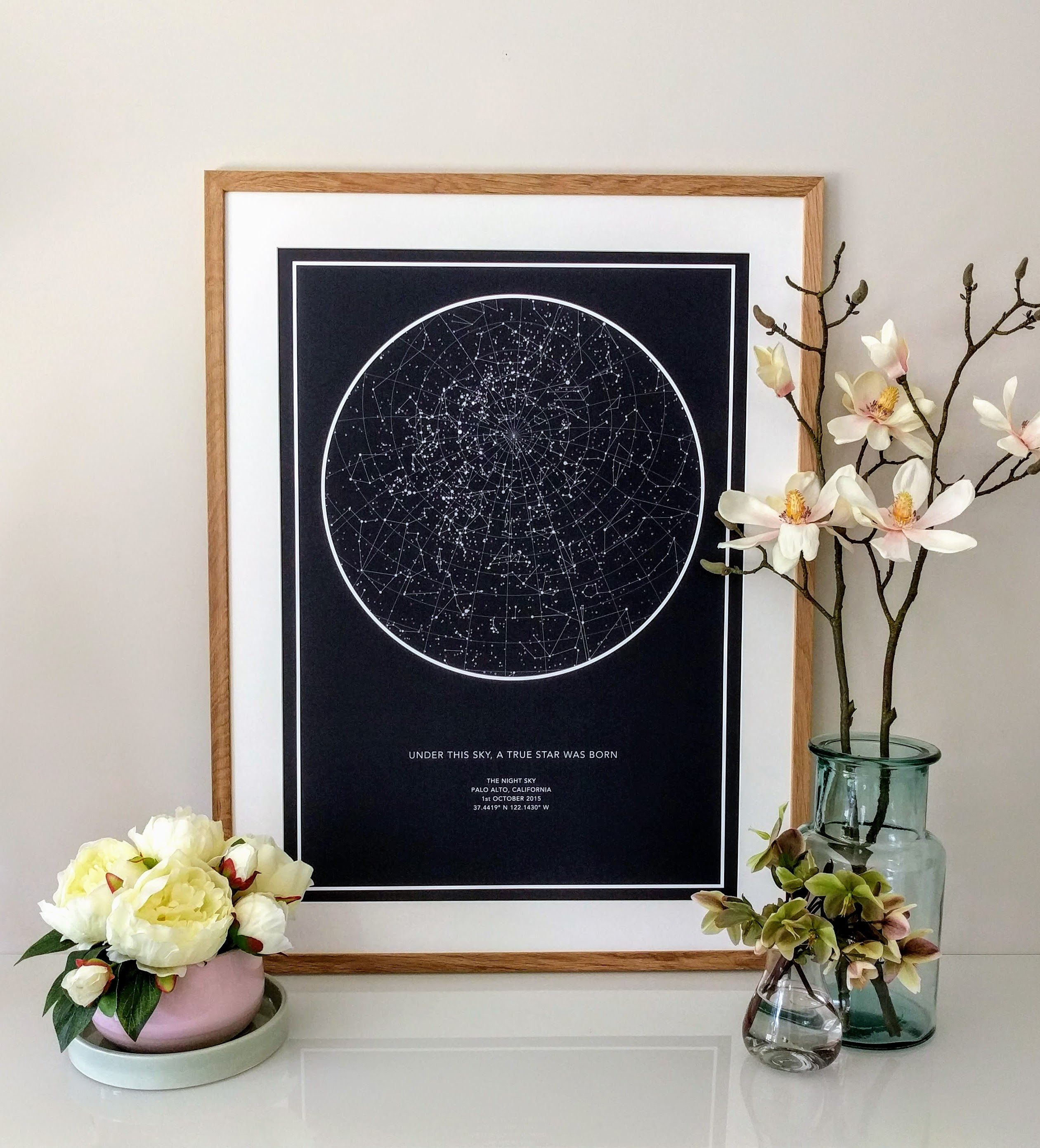 A Star Map Of The Night Your Heart Skipped A Beat Art Pinterest - Night sky map now