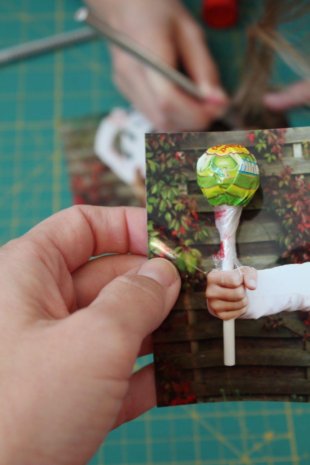 Schön Kindergeburtstagseinladung Mit Lolli Echtem Lolli Versehen