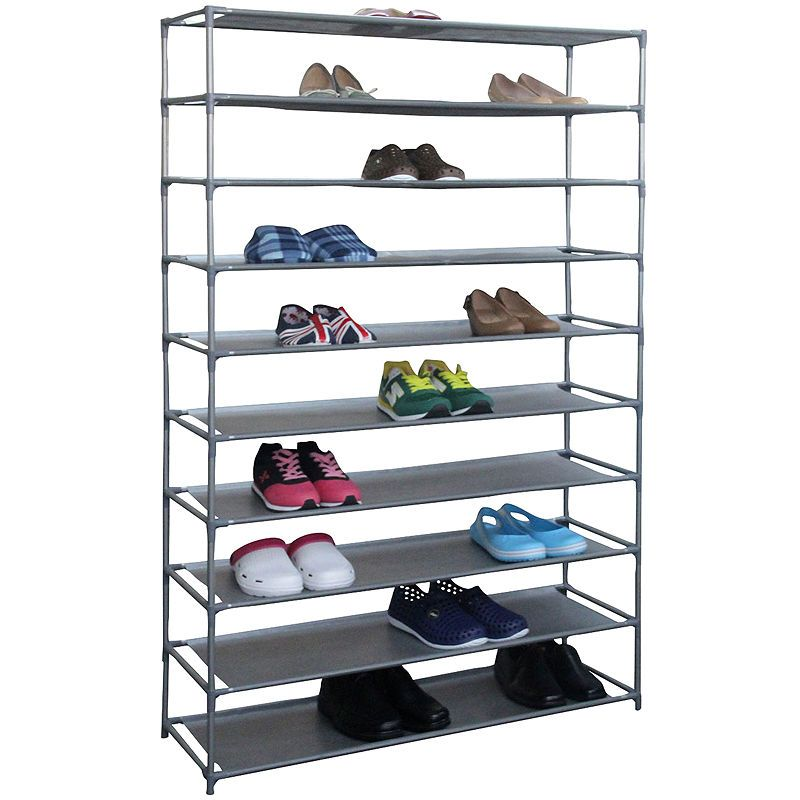 Home Basics 50 Pair Metal Shoe Shelf Diy Shoe Rack Metal Shoe