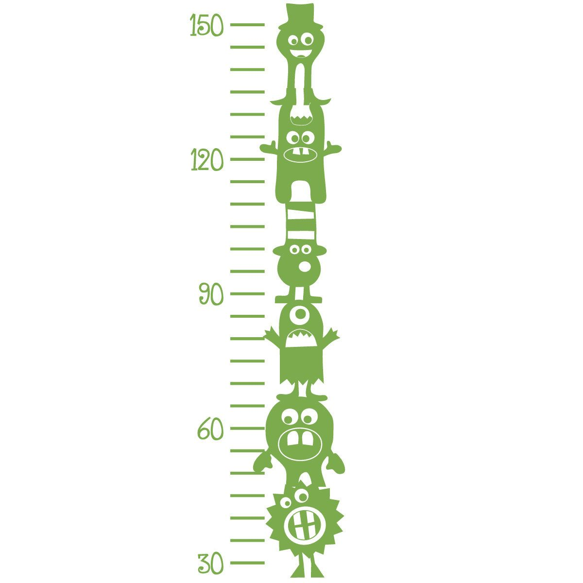 Growth chart decal 6 silly monsters vinyl wall art children wall growth chart decal 6 silly monsters vinyl wall art children wall decals 2500 nvjuhfo Choice Image