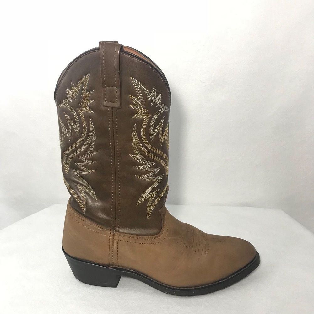 2ece5dda442 Laredo men's r-toe western cowboy distressed leather boots 4242 ...