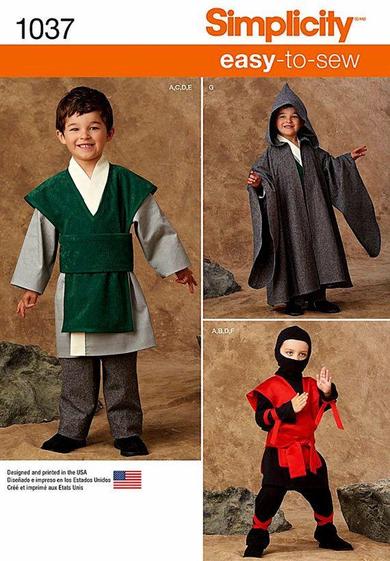 Little Boys\' Easy to Sew Costumes Pattern, Boys\' Ninji Pattern, Boys ...