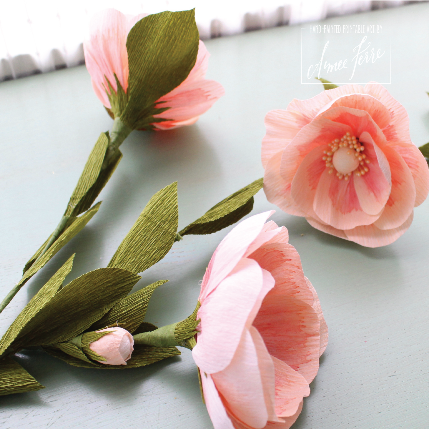 A Martha Stewart Style Diy Crepe Paper Flower Roses Tutorial With